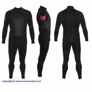 NCW 3/2mm back zip wetsuit