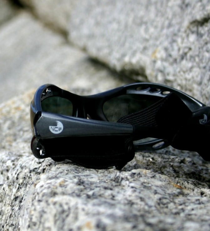 NCW watersports sunglasses - available in black or grey