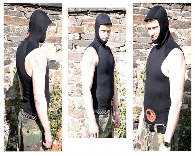 1.5mm sleeveless hooded neoprene rash vest