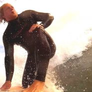 Sponsored rider Charlie Gilman in our 3/2 mini front zip wetsuit
