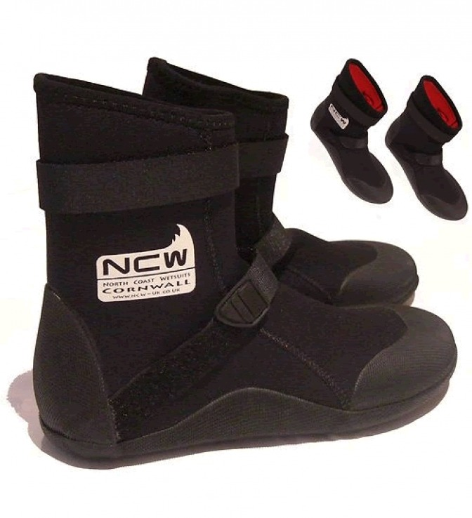NCW 5mm thermal GBS surf boot - warm and toasty