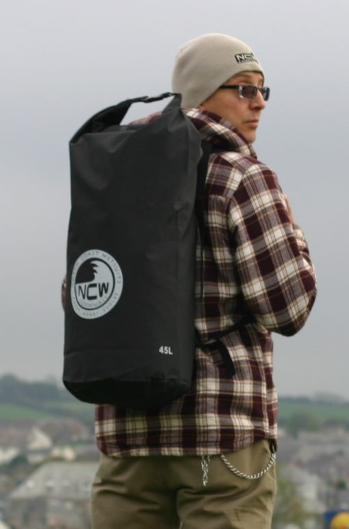 45L heavy duty PVC dry bag with rucksack straps