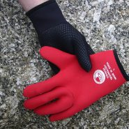 NCW 3mm titanium grippy palm wetsuit glove (red lining)