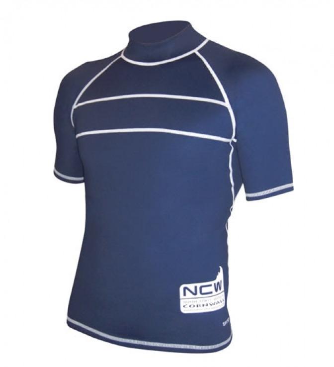 NCW uv50+ short sleeve rash vest - super stretchy with stong flatlock seams