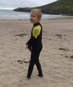 NCW kids 5mm full wetsuit with GBS seams back