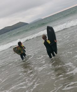 NCW kids 5mm full wetsuit with GBS seams, two go body boarding