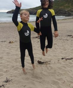 NCW kids 5mm full wetsuit with GBS seams - jump for joy