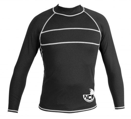 long sleeve rash vest in black SPF50+