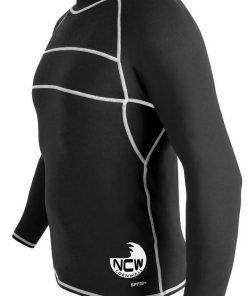 long sleeve rash vest in black SPF50+