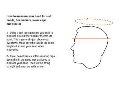 neoprene hat or hood - how to measure your head