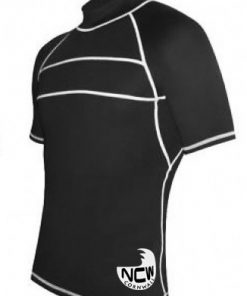 short sleeve rash vest in black SPF50+