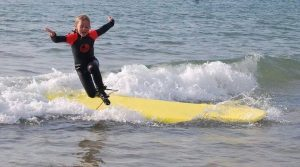 kids have fun in correctly fitting wetsuits