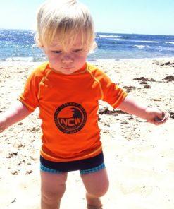 Childrens short sleeve UV (SPF50+) rash vest
