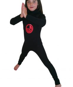 Kids Long John wetsuit worn with our neo hooded rash vest and hooded rash