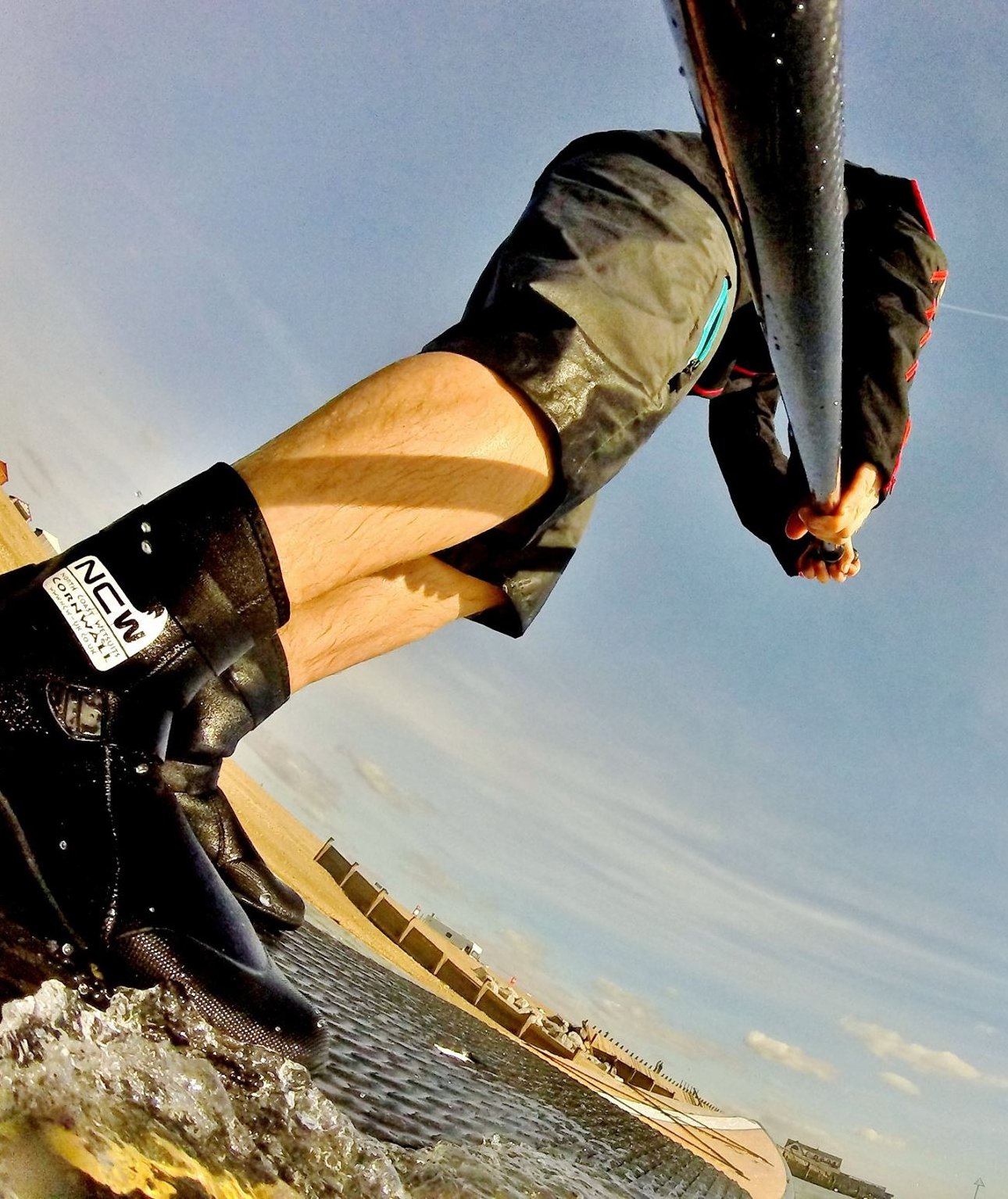 5mm thermal lined wetsuit surf boot by ncw