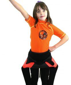 NCW kids short sleeve uv50 rash vest and 5mm full kids wetsuit