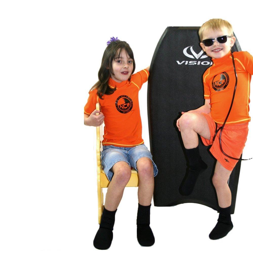 NCW kids short sleeve uv50 rash vests