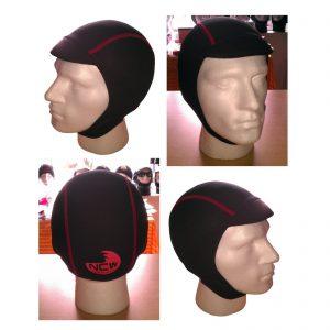 2.5mm super stretch finemesh neoprene wetsuit surf cap hood hat