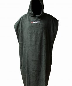 Northcore Beach Basha Towelling Changing Robe in black