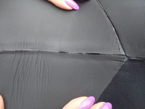 Failed seam glue