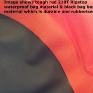 ripstop dry bag with rubberised base