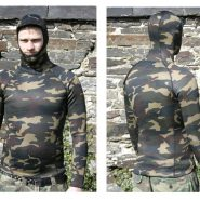 2mm hooded camo rash vest