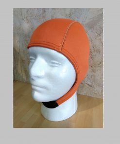 2mm open water swim cap in safety orange