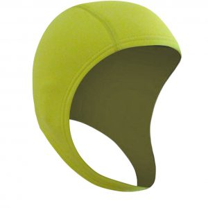 Open water swim cap neon yellow - great for triathlon and surf livesave too