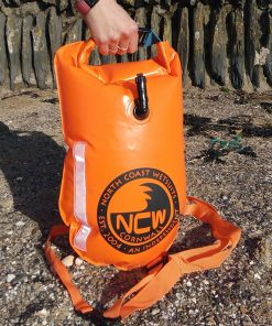NCW 15L open water swim float tow drybag inflated and ready to go