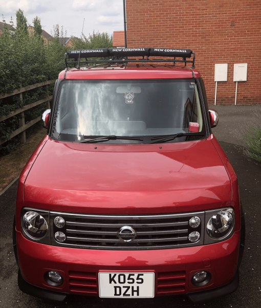 NCW roof bar pads on Nissan Cube