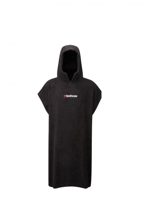 NORTHCORE Beach Basha Towelling Changing Robe in BLACK (NOCO24A)