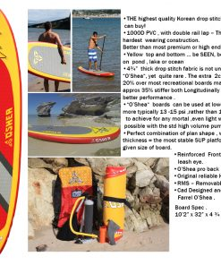 "O'shea 10'2"" inflatable SUP package"