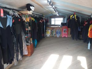 Wetsuit showroom surf shop Cornwall