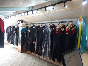 North Coast Wetsuits Showroom at St Endellion, Cornwall.
