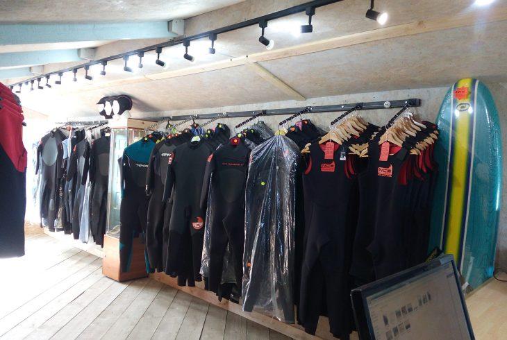 North Coast Wetsuits Showroom at St Endellion, Cornwall.