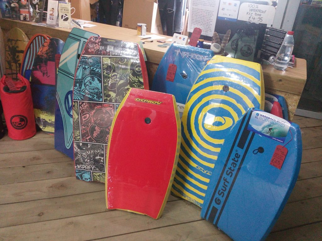 quality body boards in stock at the Rubber Shack