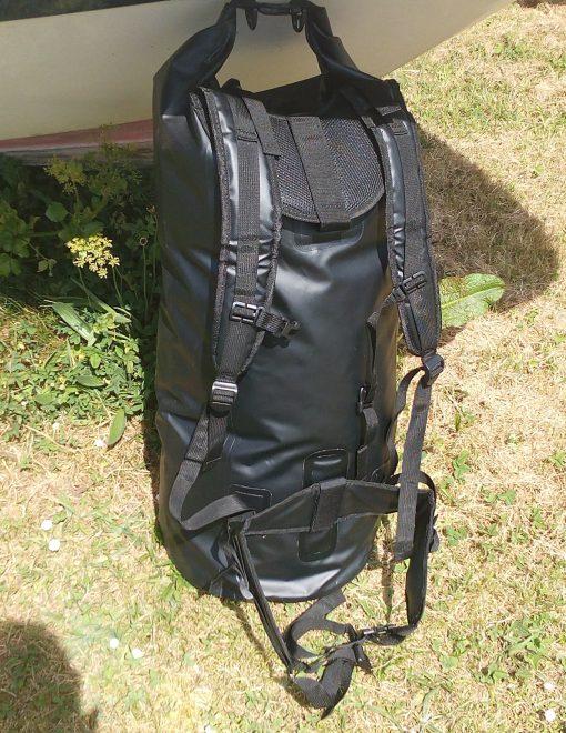 85l PVC rucksack dry bag black