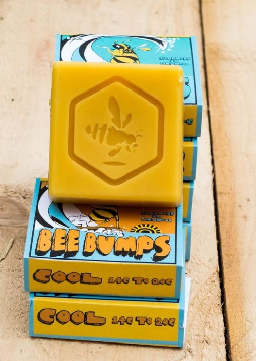 Bee Bumps surf wax - wax for warmer water use - locally made here in Cornwall