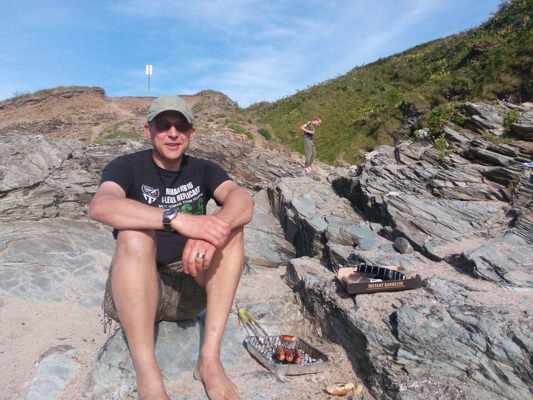 NCW's Mark enjoys some sunshine on the Cornish Coast