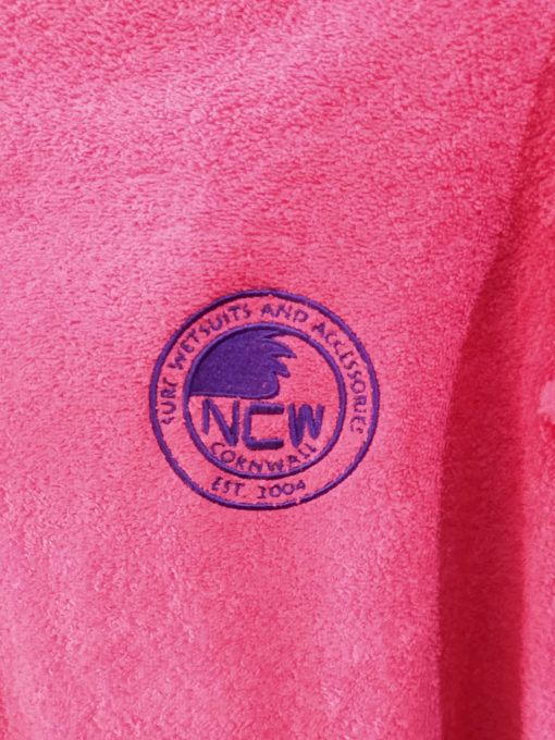 pink ncw beach towelling changing robe