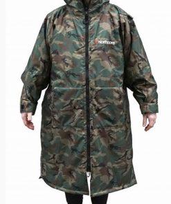 camo beach basha sport changing robe back