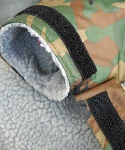 cuff view - camo beach basha sport changing robe back