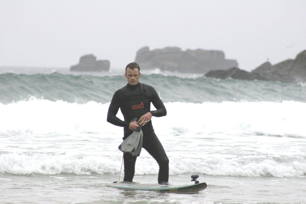 rich smith surfing in Brittany
