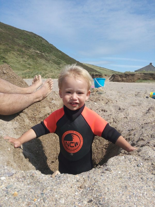 clean the sand out of your wetsuit