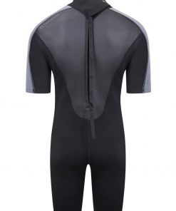2021 swarm mens 3mm shorty wetsuit (back)
