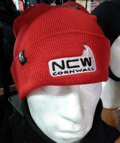 ncw cuff beanie red with logo