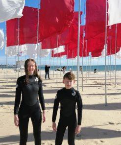 ncw kids and juniors 5mm winter chest zip wetsuit 5