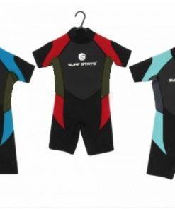 surf state adult unisex short wetsuit blue red aqua 2021