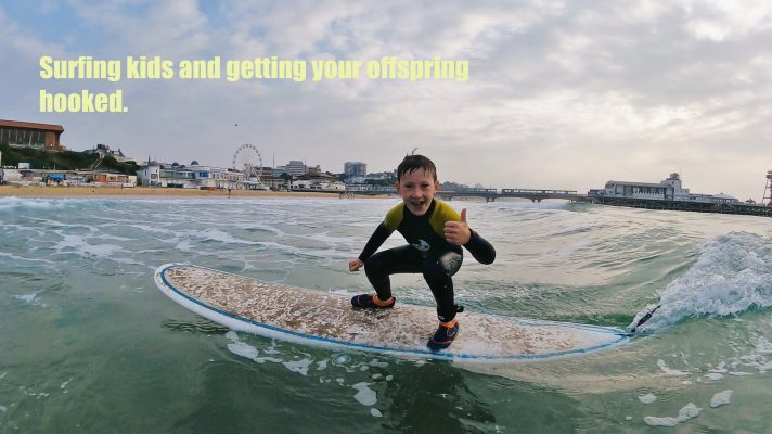 Surfing kids and getting your offspring hooked.