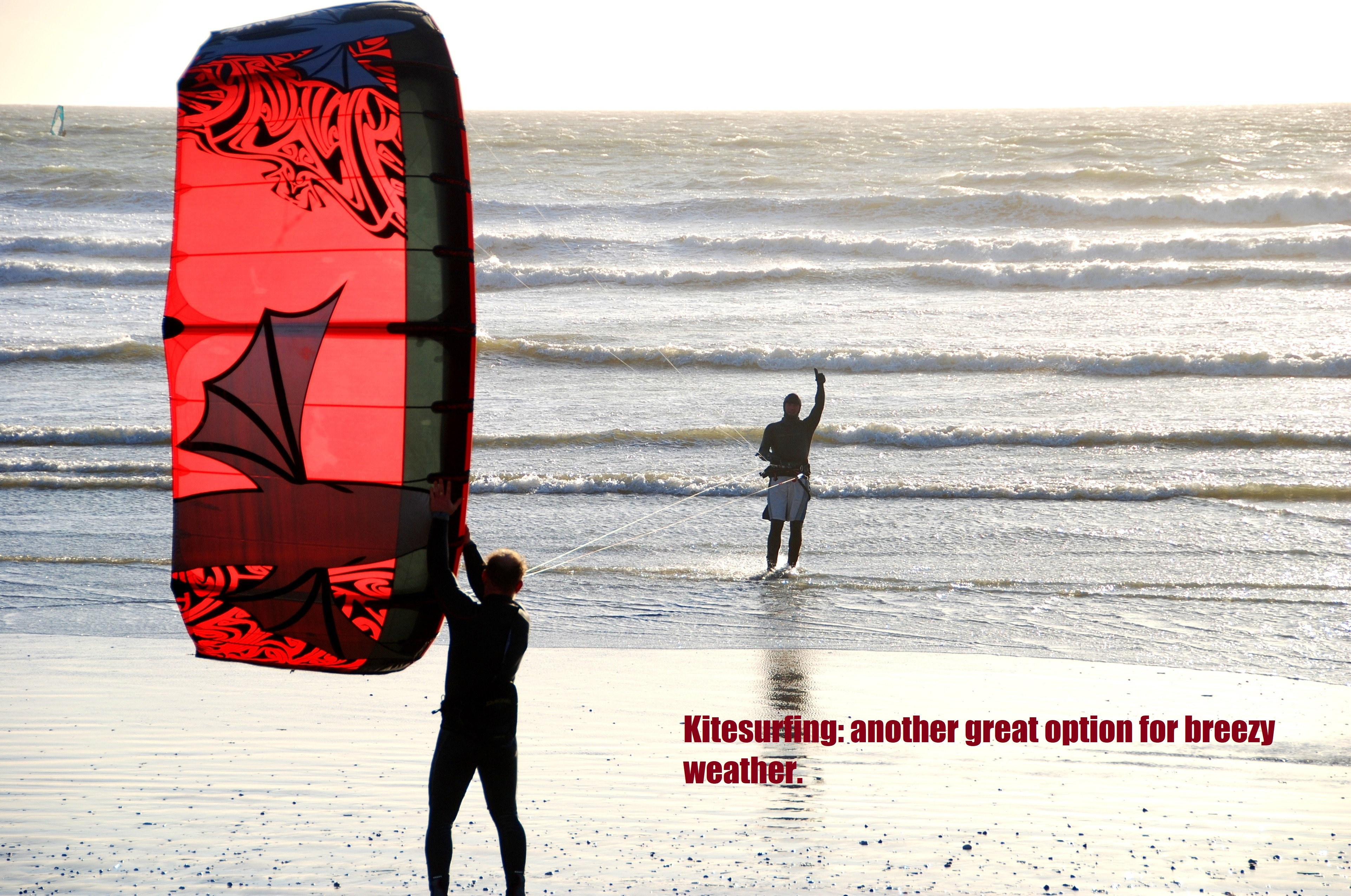 Kitesurfing another great option for breezy weather.